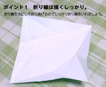 折り紙のクリスマスリース作り方ポイント