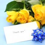 父の日の花 黄色いバラ
